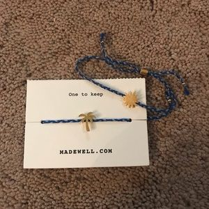 Madewell Friendship Bracelets Sun and Palm Tree
